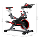 FITFIU Velo spinning reglabe FITFIU indoor roue d'inertie 16kg frequence cardiaque LCD